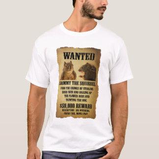 Önskad affisch med ekorren t-shirts