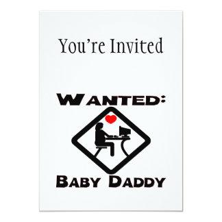 Önskad babypappa 12,7 x 17,8 cm inbjudningskort