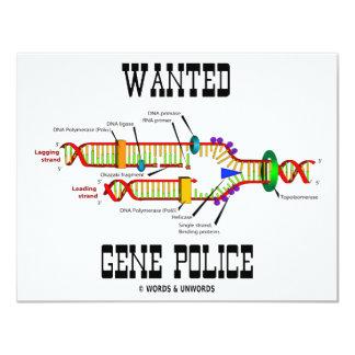 Önskad genpolis (DNA-Replicationhumorn) 10,8 X 14 Cm Inbjudningskort