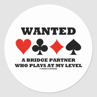 Önskade en överbryggapartner som leker på mitt runt klistermärke
