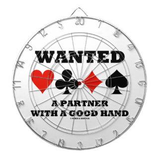 Önskade en partner med en bra räcker fyra piltavla