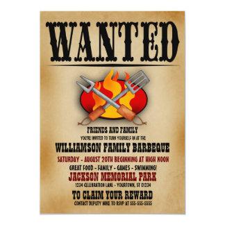 Önskade inbjudningar för affischfamiljgrillfest