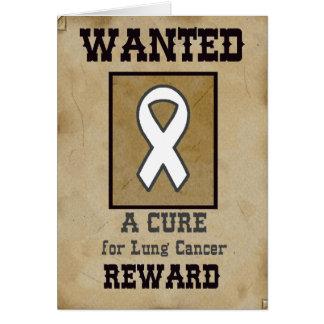 Önskat: En bot för lungcancer Hälsningskort