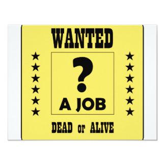 Önskat… ett jobb! 10,8 x 14 cm inbjudningskort