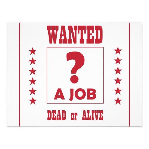Önskat… ett jobb! personliga inbjudan