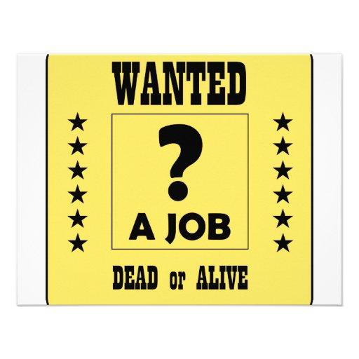 Önskat… ett jobb! individuella inbjudningskort