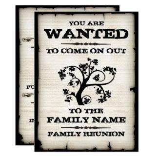 Önskat familjmöte 16,5 x 22,2 cm inbjudningskort