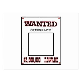 Önskat för att vara en röd älskare den vykort