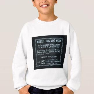 Önskat för världskrig för krigarbetsvintage mig t-shirt