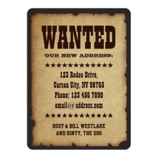 ÖNSKAT: Vårt nytt adress 14 X 19,5 Cm Inbjudningskort