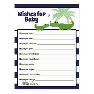Önskemål för alligatorbabymammor för vykort