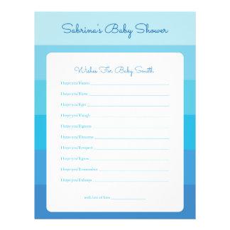 Önskemål för baby blue Ombre görar randig baby Reklamblad 21,5 X 30 Cm