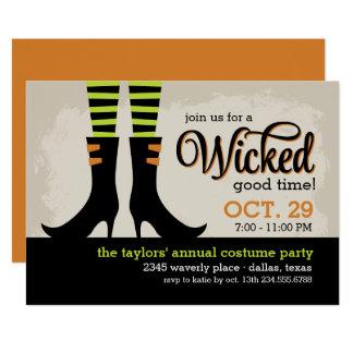 Ont bra Halloween dräktparty 12,7 X 17,8 Cm Inbjudningskort
