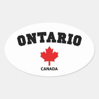 Ontario kvarter ovalt klistermärke