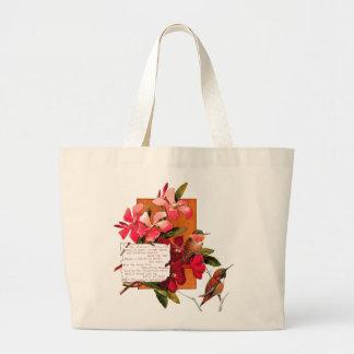 Öoleanderen blommar tropisk blom- dikt hänger lös jumbo tygkasse