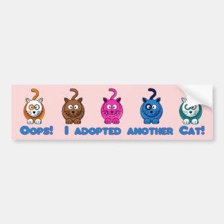 Oops!  Jag adopterade en annan katt! Bildekal