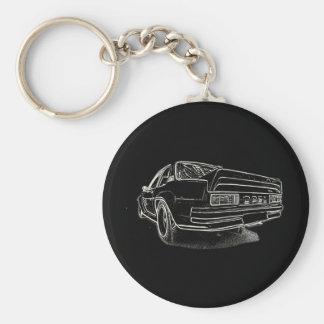 Opel Ascona i400 Rund Nyckelring