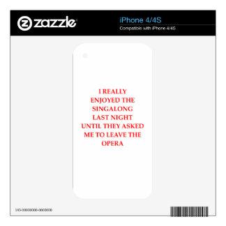 OPERA iPhone 4S SKINS