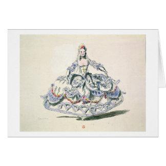 Operadräkt, från den menyPlaisirs samlingen, Hälsningskort
