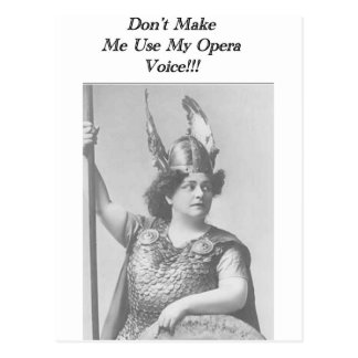 Operan uttrycker vykort