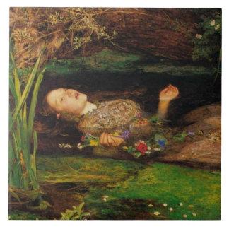 Ophelia av John Everett Millais Stor Kakelplatta