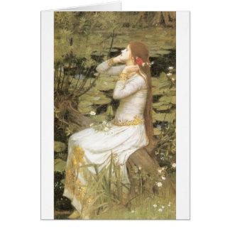 Ophelia - John William Waterhouse (1894) Hälsningskort
