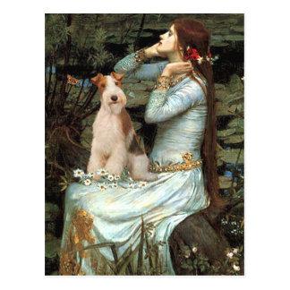 Ophelia placerade - binda foxterrier 3 vykort