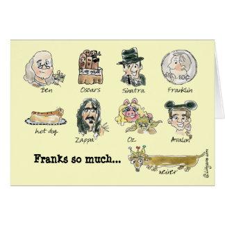 Öppenhjärtigar så mycket roligt tecknadkort för hälsningskort