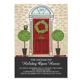 Öppet husparty för unik helgdag 12,7 x 17,8 cm inbjudningskort