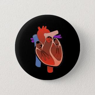 Öppna -hjärtad standard knapp rund 5.7 cm