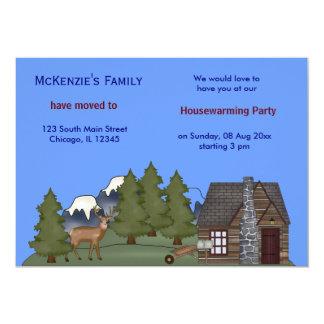 Öppna huset 12,7 x 17,8 cm inbjudningskort
