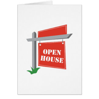Öppna huset hälsningskort