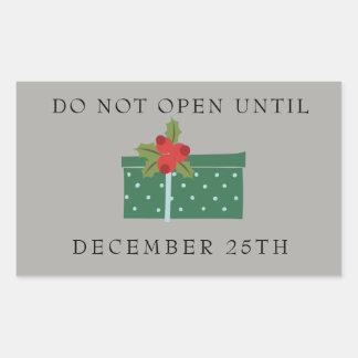 Öppna inte tills December 25th etiketter