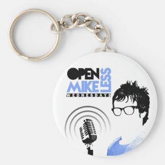 Öppna Mikeless Keychain Rund Nyckelring