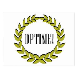 Optime! Utmärkt jobb! Vykort