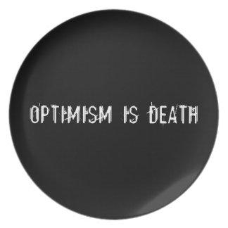 Optimism är död tallrik
