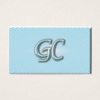 Optisk illusion för blå himmel & för vit av randar visitkort