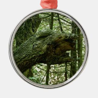 Optisk illusion för träd julgransprydnad metall