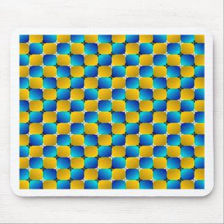 Optisk illusion för Tumbler som #3 snedvrider Mus Matta