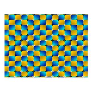 Optisk illusion för Tumbler som #3 snedvrider Vykort