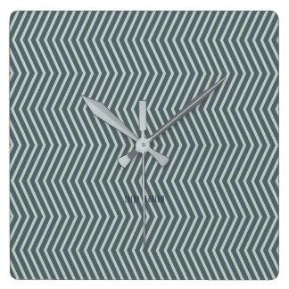Optisk illusion fyrkantig klocka