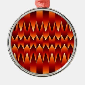 Optisk illusionabstraktbakgrund julgransprydnad metall