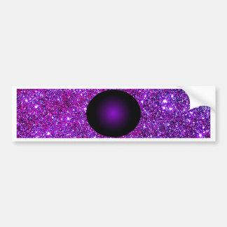 Optisk illusionkonst för purpurfärgad purpurfärgad bildekal