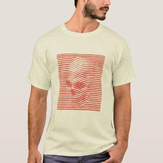 Optisk skalleutslagsplats t-shirts
