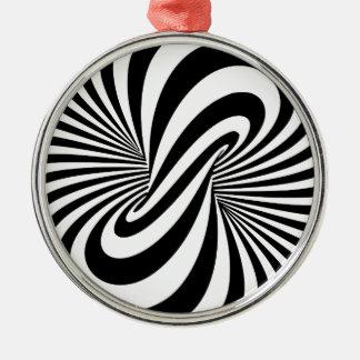 Optisk spiral för illusion 3D Julgransprydnad Metall