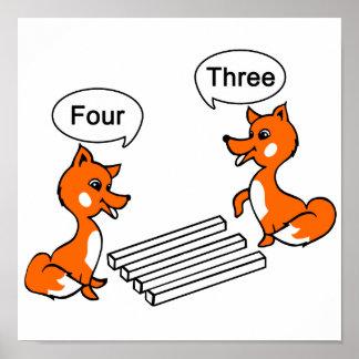 Optiskt illusiontrick för räv poster