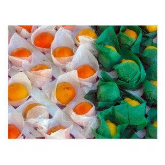 Orangar och citroner vykort