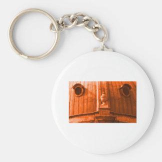 Orange 1986 för Oxford kort 163 MUSEET Zazzle Nyckel Ring