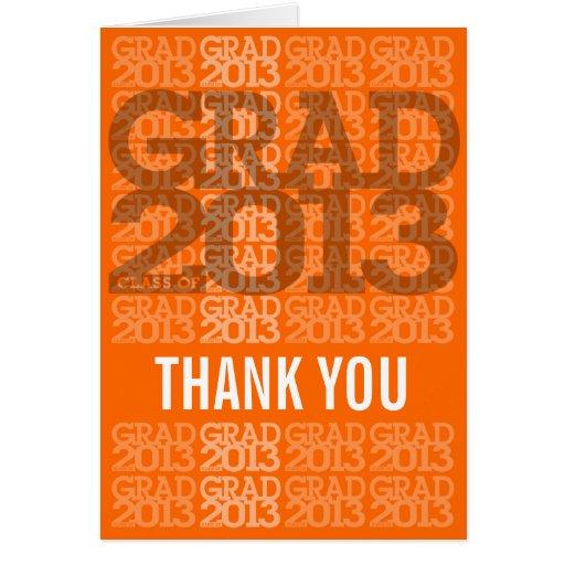Orange 2013 för studententackkort 1 hälsningskort