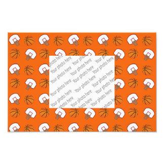 Orange basket och förtjänar mönster fototryck